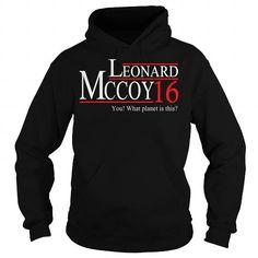 I Love LEONARD MCCOY T-Shirts