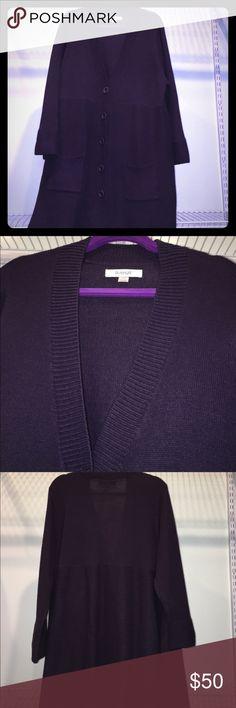 """Plus size 26/28 Avenue  button cardigan Purple Plus size Avenue Long sleeve button cardigan Purple size 26/28 100% acrylic 35"""" length Avenue Sweaters Cardigans"""