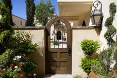 Camelback Mountain Villas - mediterranean - exterior - phoenix - door - potted plants
