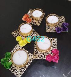 Diwali Diy, Diwali Gifts, Traditional Wedding, Traditional Design, Diy Diwali Decorations, Indian Festivals, Religious Gifts, Tealight Candle Holders, Tea Light Holder