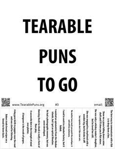 Tearable Puns. This site is awesome.