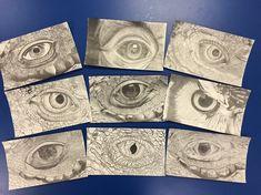 animal eye value drawings grid high school art lessons cartoon drawing lesson plan Programme D'art, Animal Drawings, Art Drawings, Drawing Art, High School Drawing, Value Drawing, Intro To Art, Classe D'art, 7th Grade Art