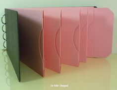 Chipboard AlbumBlack and Pink Pocket Tag by aninkinstampede, $5.00