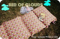 Make a toddler sleeping bag out of five pillows and a large custom pillow case