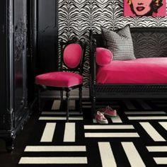 black and white flor carpet