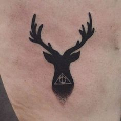 Image result for deathly hallows stag tattoo
