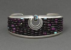 bracelet, Eddie Begay (Diné) - fyeahindigenousfashion, http://www.heardmuseumshop.com/browse.cfm/4,12061.html