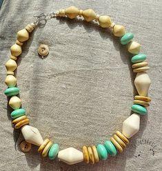 wabi sabi, drewno, naszyjnik, korale Wabi Sabi, Beaded Necklace, Jewelry, Fashion, Beaded Collar, Moda, Jewlery, Pearl Necklace, Jewerly