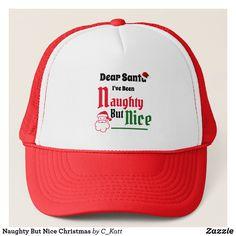Naughty But Nice Christmas Trucker Hat