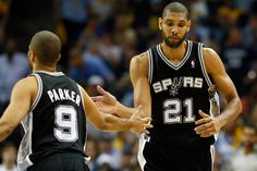 Tony Paker and Tim Duncan