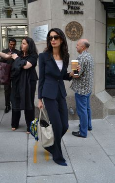 Arriving at the National Press Building in Washington, D.C., to call for the release of imprisoned former Maldives President Mohamed Nasheed. See all of Amal Clooney's best looks.