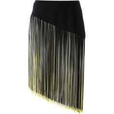 Christopher Kane Asymmetric Fringed Skirt ($418) ❤ liked on Polyvore featuring skirts, straight skirts, christopher kane, fringe skirt, christopher kane skirt and asymmetrical skirt