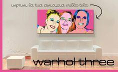 Ritratto stile Warhol da foto e stampato su tela!