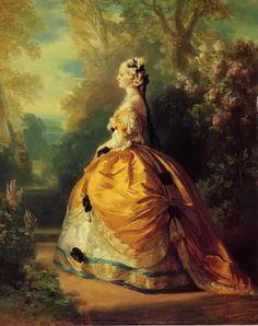 Franz Xavier Winterhalter - The Empress Eugenie a la Marie Antoinette 1854