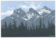 LINDA COTE-Three Sisters Spring, Canmore