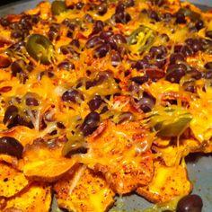 Healthy and delicious yam nachos! I adapted the Original recipe found at www.doortodoororganics/Michigan