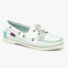 #Boat #Shoes in #Seafoam #Mint #Green & #White