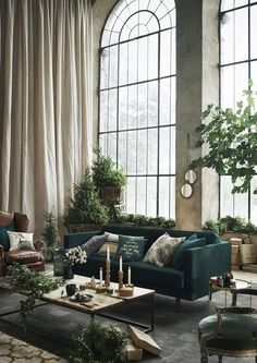 Interior ideas for a luxury decor - Interior design inspiration and ideas Are you looking for home decor inspiration and interior desig - Living Room Green, Living Room Windows, Home Living Room, Living Room Decor, Scandi Living Room, Cozy Living, Small Living, Modern Living, Apartment Interior