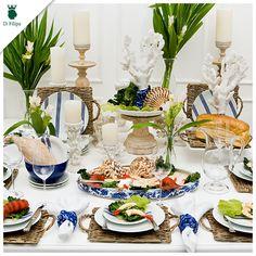 O clima de verão tomou conta da D.Filipa. Nossa dica de hoje é essa mesa com tema de fundo do mar.
