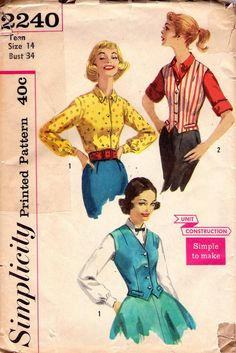 I really sense that once the temps drop again I'll be in the mood for vests this year. #vintage #sewing #pattern #vests