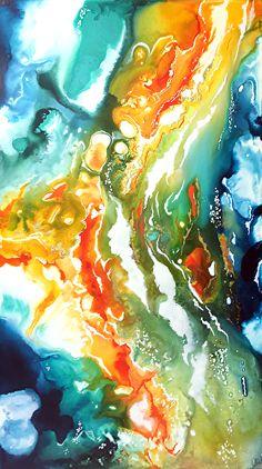 Cristina Dalla Valentina - Work Zoom: Atolli sperduti - Lost atolls - #arteastratta #artecontemporanea #contemporaryart #abstractart #abstractpaintings #dipinti #paintings #interiordesign