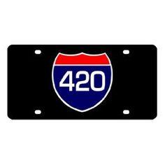 Highway 420 License Plate
