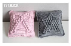 Very cute mini cushions crochet free pattern - pdf in french.