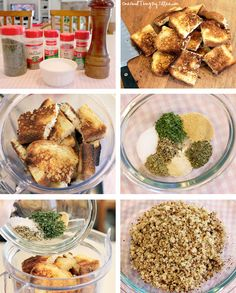 Make your own italian bread crumbs in the blender!