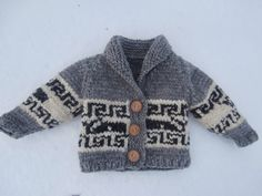 Ravelry: Northern Whale Cowichan Sweater- Toddler& Cardigan by Kristen Cooper Knitting Patterns Boys, Knitting For Kids, Baby Patterns, Free Knitting, Cowichan Sweater, Sweater Cardigan, Toddler Cardigan, Knit Baby Sweaters, Knitting Sweaters