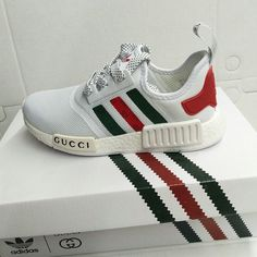 Chaussures De Course 2017 Adidas NMD White/blanc X Gucci Sneaker Concept GU CC EUR 36-45