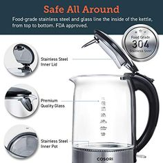 Whether you prefer coffee or tea, this will got you covered👍🏻Can't go out for ☕? Here is a solution!why not to make it at home with Cosori's amazing electric kettle? Water Boiler, Light Ring, Specialty Appliances, Kitchen Appliances, Water Heating, Hard Water, Heating Element, Cookware, Pure Products
