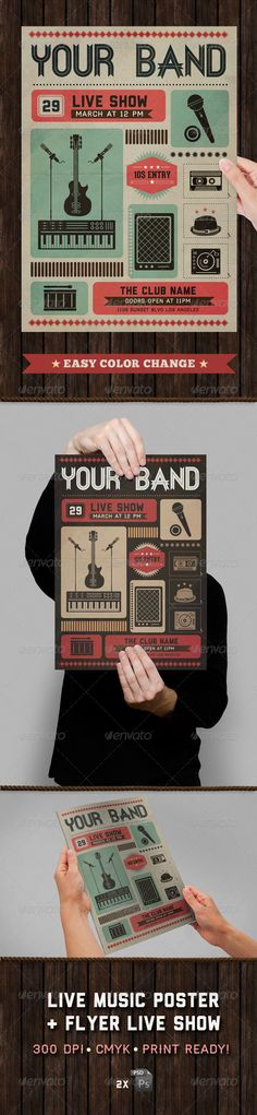 Live Show Music Poster & Flyer Template - GraphicRiver Item for Sale