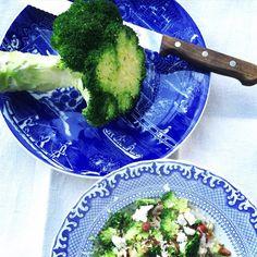 Nerokas parsakaali-maapähkinäpasta - Soppa 365 Sprouts, Risotto, Cabbage, Pizza, Chicken, Meat, Vegetables, Food, Drink