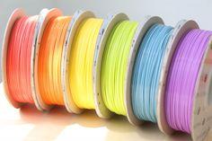 New Colorful 3D Printer Filament: http://3dprint.com/4650/tinkerine-3d-printer-filament/