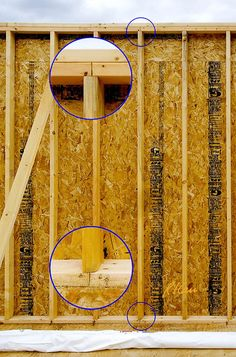 Rough wood framing for window: Frame around window must support downward forces above window from floor/roof joists or roof trusses above. In addition, there must be a small gap above the window itself so that any deflection of the framing under load will Building A Garage, Building Plans, Building A House, Framing Construction, Wood Construction, Diy Storage Shed, Build A Wall, Pallet House, Backyard Sheds