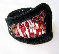 INSPIRATION ~ crochet beads cuff bracelet