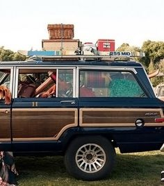 wagoneer with wooden side panels--JOY