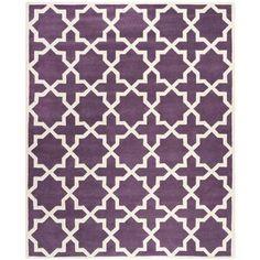 Varick Gallery Wilkin Purple / Ivory Rug Rug Size: