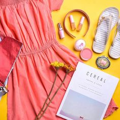 Add some vibrant colours to your #ootd even during the rainy days. Pop some pink and yellows for some positivity! Style by @theresemarielim #DMootd #DMdaily 📸: @ron.mendoza #flatlay #flatlayapp #flatlays