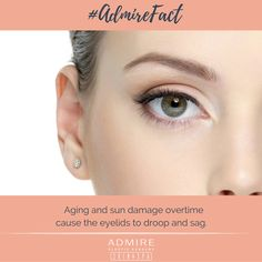 The #skin of the eyelid is often times the first to deteriorate. #AdmireFact