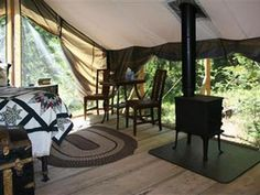 Huckleberry Tent and Breakfast | About & Huckleberry Tent and Breakfast - Wilderness Bed and Breakfast near ...