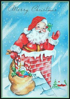 Christmas..how cards looked when I was a child♪.¸¸♫´¯`♪.¸¸.ஐ.¸¸. ♫´¯` ♪.¸¸♫..