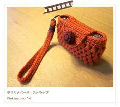 Crochet camera case デジカメポーチ  作り方|編み物 Free chart here; http://strage.excite.co.jp/users/s/l/sleepypinkmarimo/atelier/f95d75ac5995365630f8eab432d24289.pdf