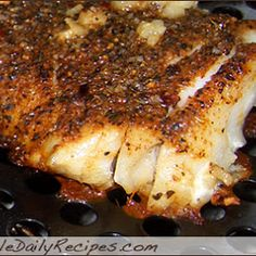 Blackened Grilled Tilapia, except i'm not dipping mine in butter.