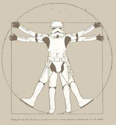 da vinci vitruvian man parody Vitruvian Man i olika stilar Lego Star Wars, Star Wars Art, Da Vinci Vitruvian Man, Love Stars, Art History, Pop Culture, Sci Fi, Artsy, Cartoon