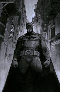 """longlivethebat-universe: """"Batman by Jorge Molina Manzanero """""""