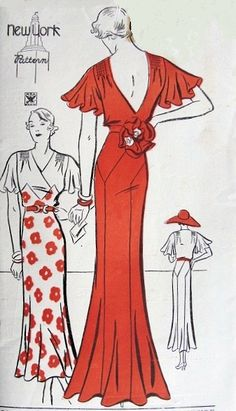 1930s sewing pattern