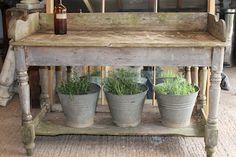 Potting table... millingtonandhope                                                                                                                                                                                 More