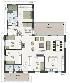 4 Bedroom House Plans, House Floor Plans, Bungalow, Future House, My House, One Storey House, Humble Abode, Planer, Sweet Home