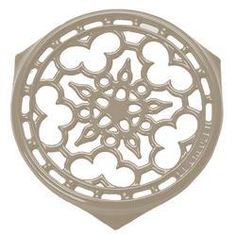 LE CREUSET Enameled Cast-Iron Deluxe Round Trivet 9-Inch Dune $59.95 BEST PRICE GUARANTEE FREE WORLD SHIPPING (LOCAL ORDER PICK UP IS ALSO AVAILABLE & GET 20% OFF)